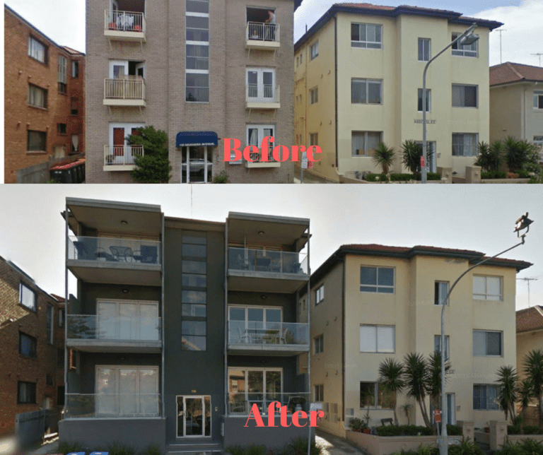 Before and After Unit Renovation