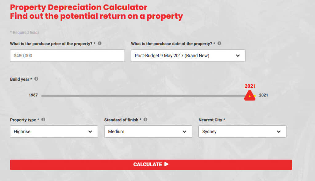 How to calculate Depreciation on Investment property